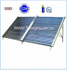 50 tubes non pressure solar collector SRCC approved for large project