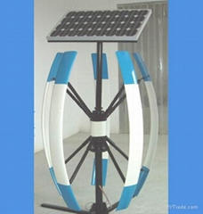 hybrid solar and wind power generator