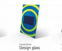 镜面电视之图案玻璃