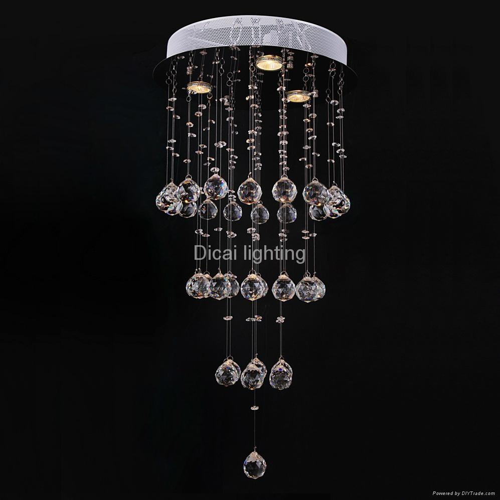 simple modern crystal ceiling light 6004-3 1