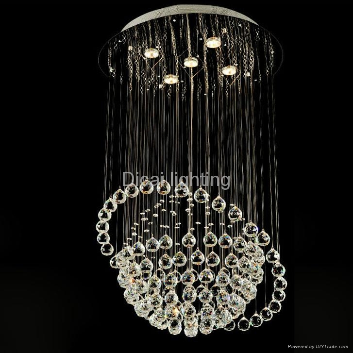 good quality and competitive price of crystal ceiling lamp 6005-5 1
