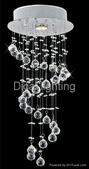 2013 new design crystal ceiling lamp/light 6037-1 1