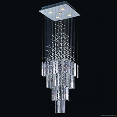 modern Chinese top K9 crystal ceiling light/lamp 8002-6