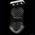 good quality and competitive price modern crystal light ceiling lamp  8004-3 1