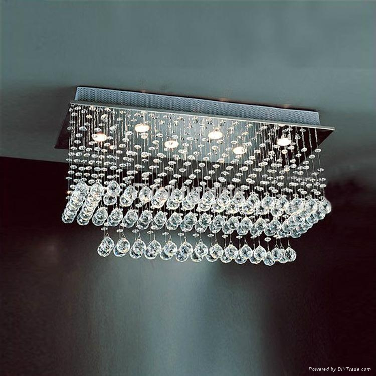 Chinese factory good quality of crystal ceiling light/lamp 8019-6 1