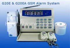 LCD display GSM home security alarm