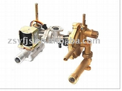 gas water heater valve