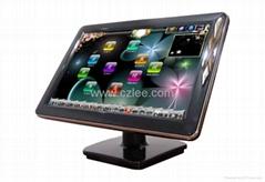 神化不锈钢19寸桌面台式触摸屏点歌台