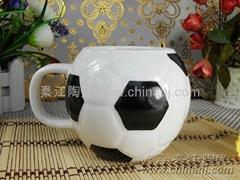 Ceramic football cup
