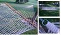 white-cotton rope hammock