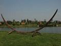 rattan hammock stand