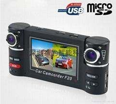 two lens car dvr camera F20