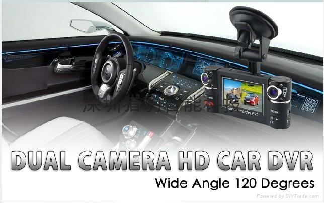 two lens car dvr camera F20 4