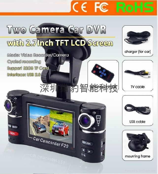 two lens car dvr camera F20 5