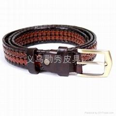 men's fretwork neutral or artifical leather belt