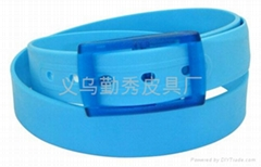 new style TPE plastic belt with embossing flower