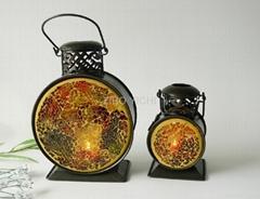 Mosaic candle holder and mosaic lamp