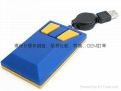 专业厂家硅胶鼠标环保矽胶鼠标时尚韩国潮流精品电脑配件
