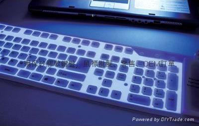 专业厂家109键夜光矽胶键盘硅胶软键盘时尚韩国潮流精品电脑配件 1