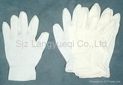 added powder PVC gloves