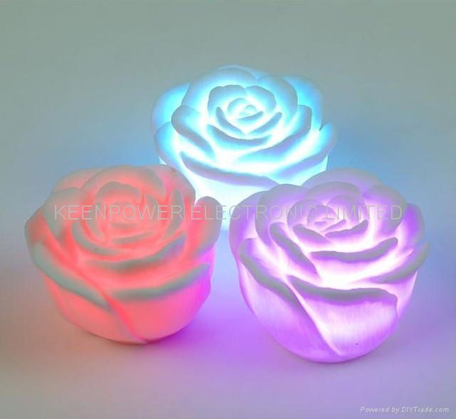 Romantic living color changing led rose lamp 1113 china for Color changing roses