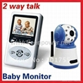 2.4G Wireless Baby Monitor with 2.4 inch LCD Receiver