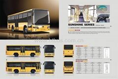 Medium CNG/Diesel 7.5m-8.5m 17-37 Seats Rear Engine Bus