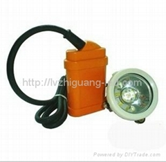 Cord miner cap lamp KJ3.5 with rechargeable Ni-MH battery