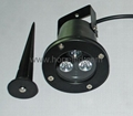 3×1w High Power Spot Garden Light