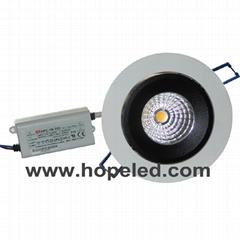 COB LED Ceiling Light / LED Down Light (360° Rotatable) (HP-NDL-15WA)