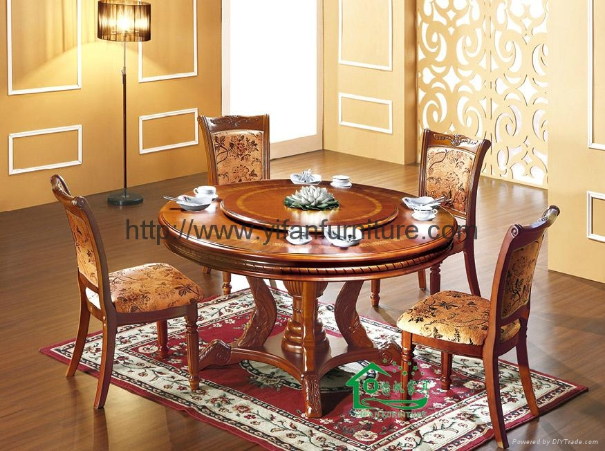 Shopzilla - Round Table Chairs Cherry Wood 42 Inches Dining Room
