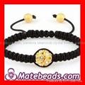 Handmade Shamballa Woven Bead Jewelry Bracelet