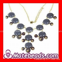Wholesale Fashion Bib Grey Bubble Necklace Jewelry Cheap
