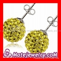 Cheap 10mm tresor paris crystal stud earrings wholesale