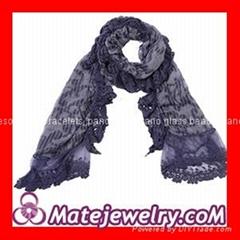 European Cotton Lace Edge Pashmina Shawl