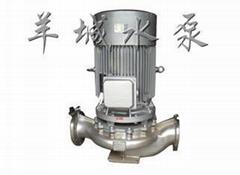 廣東羊城水泵不鏽鋼耐腐蝕管道泵