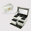 Faux leather jewelry case/ decorative jewelry box