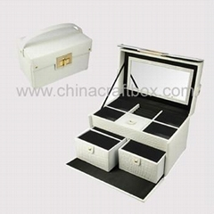 Faux leather jewelry case/ decorative jewelry box