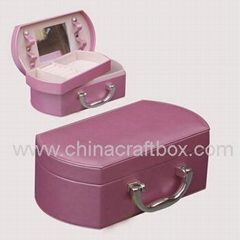 faux leather jewelry box/ travel jewelry case