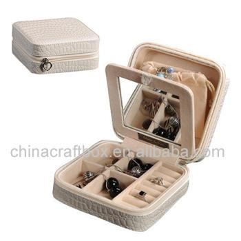 travel leather jewelry box ZB1005151S charming China