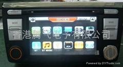 铃木雨燕车载DVD带GPS,蓝牙,双区,方向盘控制