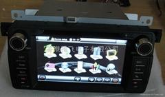 宝马E46专用车载DVD带GPS,方向盘控制