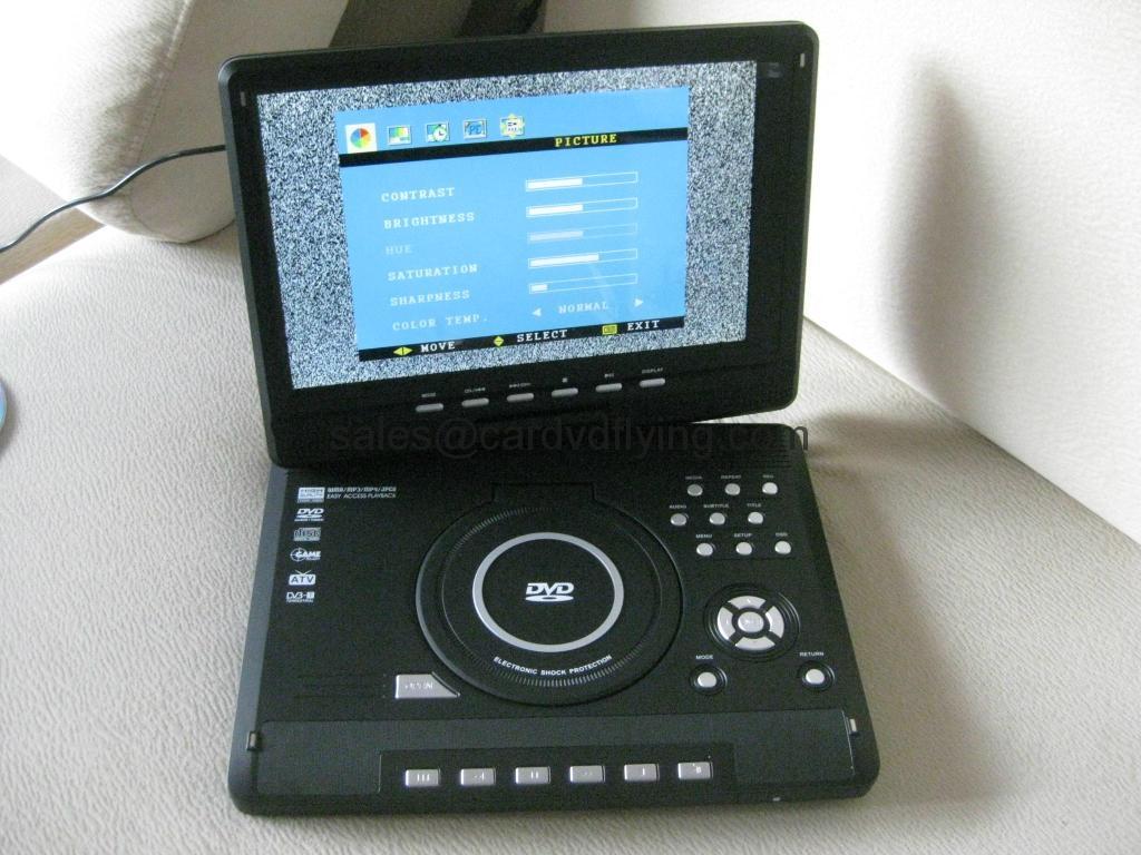 "12.3"" portable DVD PLAYER with AnalogTV DVB-T Game 3"