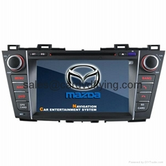 mazda 5 2012 special car dvd player with gps,bluetooth,tv,ipod (Hot Product - 1*)