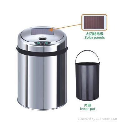 太阳能感应垃圾桶