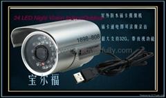 自动录像存储摄像头 家庭式 插卡式摄像头