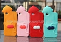 Cute Monkey  Soft TPU Case Cover with Dust Proof  for Iphone 4 4S