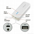 5600mAh power bank with LED flashlight
