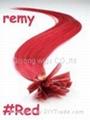 "20""Remy Nail Tip Hair Extensions,human"