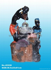 water fountain,black people adornment , ployresin artcrafts, home humidifier,